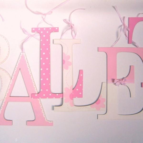 Ξύλινα, ζωγραφιστά γράμματα για τον τοίχο ZG025