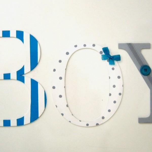 Ξύλινα, ζωγραφιστά γράμματα για τον τοίχο ZG026