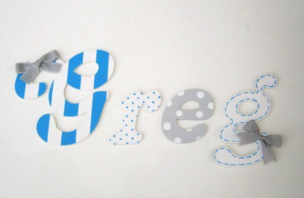 Ξύλινα, ζωγραφιστά γράμματα για τον τοίχο ZG029