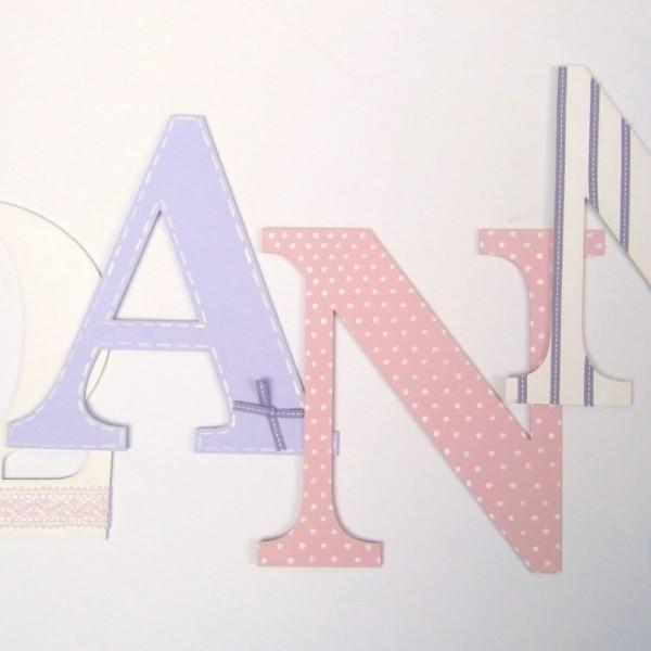 Ξύλινα, ζωγραφιστά γράμματα για τον τοίχο ZG012