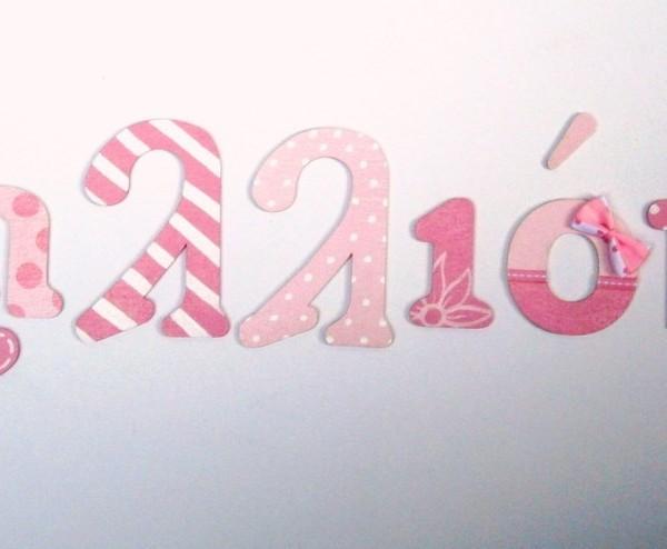 Ξύλινα, ζωγραφιστά γράμματα για τον τοίχο ZG014