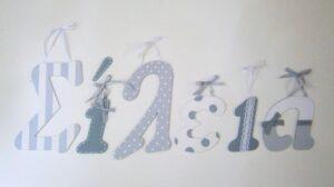 Ξύλινα, ζωγραφιστά γράμματα για τον τοίχο ZG031