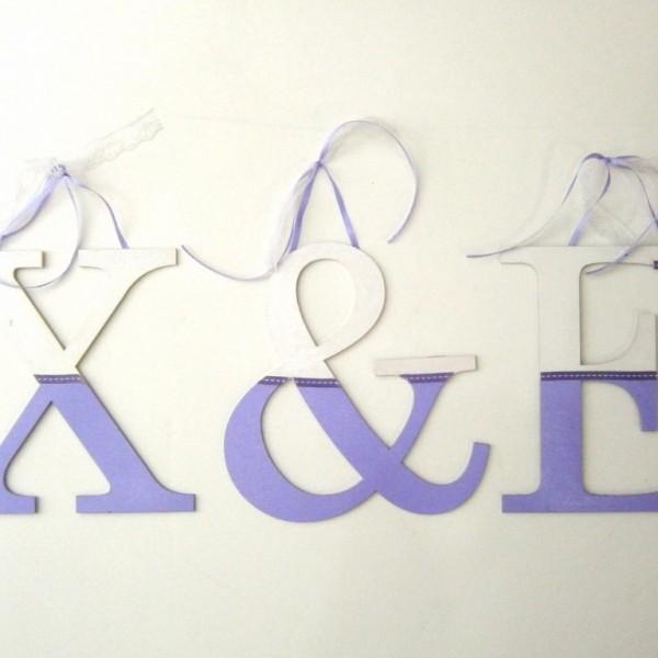 Ξύλινα, ζωγραφιστά γράμματα για τον τοίχο ZG021