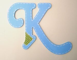Ξύλινα, ζωγραφιστά γράμματα για τον τοίχο ZG019