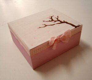 Ζωγραφιστό κουτί αμυγδαλιά DZK027