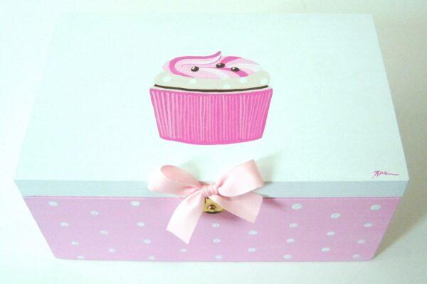 Ζωγραφιστό κουτί cupcake DZK021