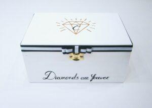 Ζωγραφιστή κοσμηματοθήκη diamonds DZK036