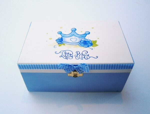 Ζωγραφιστό κουτί Κορώνα (Baby Blue) DZK034