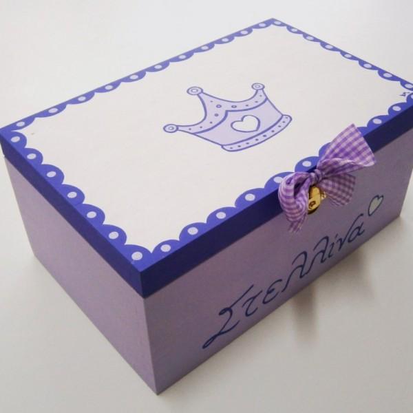 Ζωγραφιστό κουτί Πριγκίπισσα λιλά DZK012