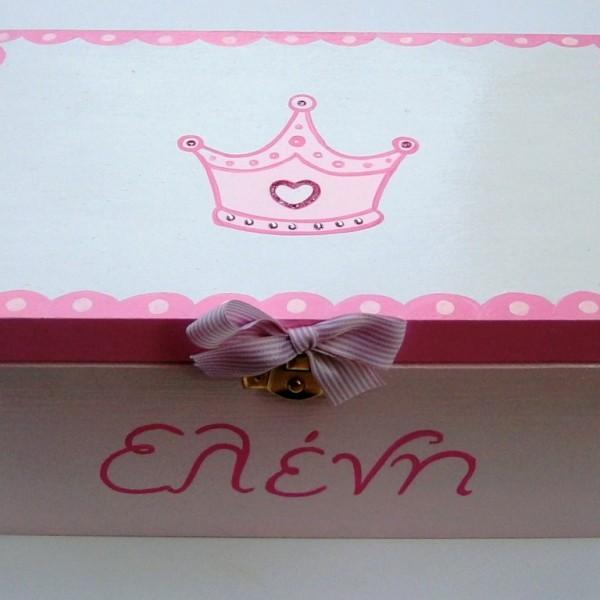 Ζωγραφιστό κουτί Πριγκίπισσα ροζ DZK013