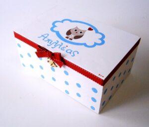 Ζωγραφιστό κουτί Κουκουβάγια DZK032