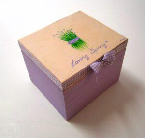 Ζωγραφιστό κουτί λεβάντα λιλά DZK028