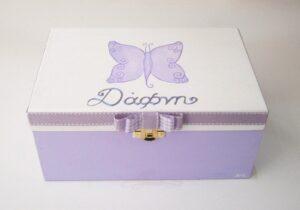 Ζωγραφιστό κουτί κοσμηματοθήκη Πεταλούδα DZK045
