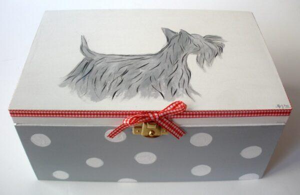 Ζωγραφιστό κουτί Σκυλάκι DZK008