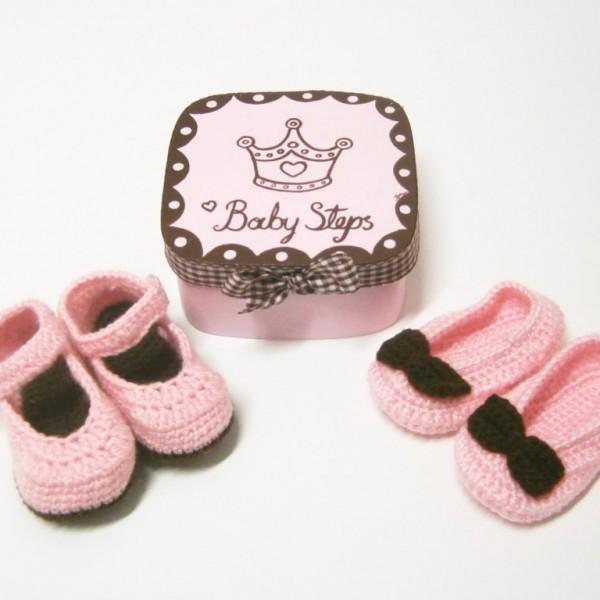 Σετ δώρου για νεογέννητα παπουτσάκι με κουτάκι NBG072