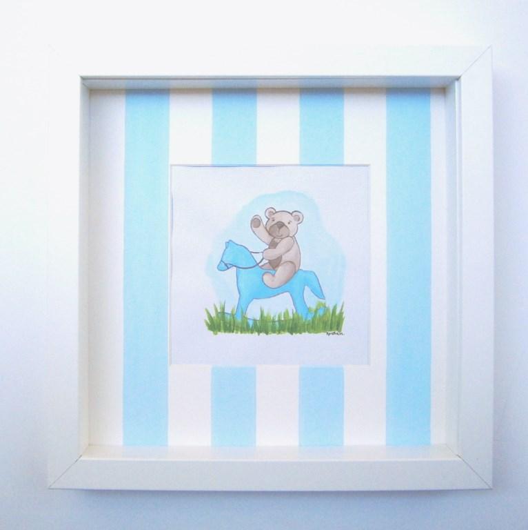 Παιδικός πίνακας Αρκουδάκι & Carousel DPP084