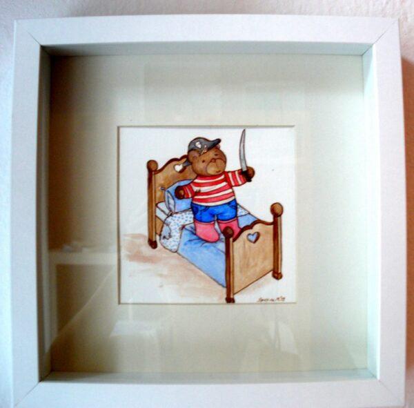 Παιδικός πίνακας Αρκουδάκι- Πειρατής DPP007