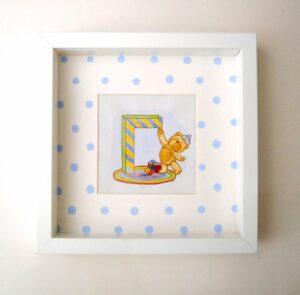 Παιδικός πίνακας Αρκουδάκι & Αρχικό για αγόρι DPP085