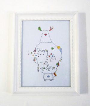 """Παιδικός πίνακας """"ευτυχομηχανή"""" DPP091"""