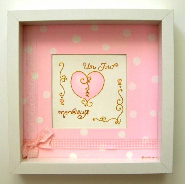 Παιδικός πίνακας καδράκι Καρδιά DPP047