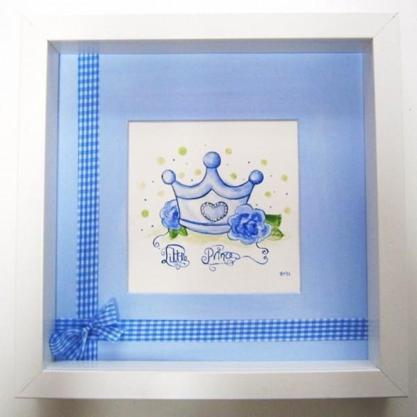 Παιδικό καδράκι Κορώνα (baby blue) DPP058
