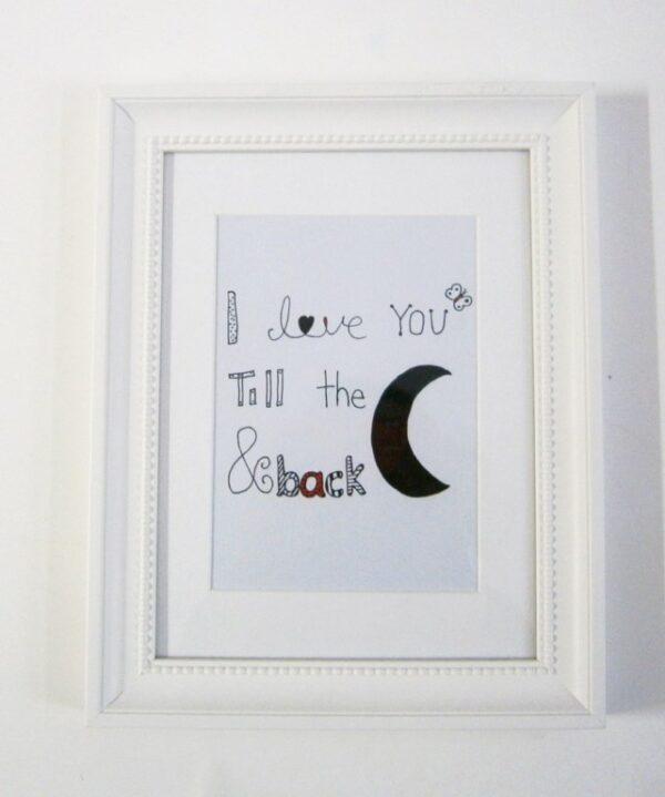 """Παιδικός πίνακας """"till the moon"""" DPP092"""