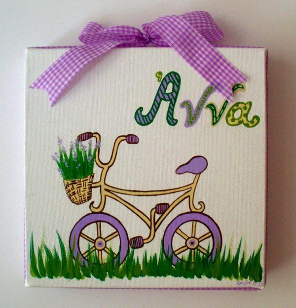 Παιδικός πίνακας Ποδηλατάκι DPP048