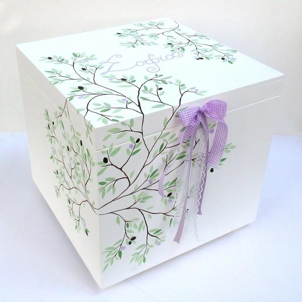 Κουτί βάπτισης Ελιά VK073
