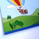 Παιδικός πίνακας αερόστατο & αδερφάκια DPP088