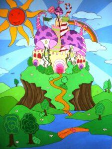 Παιδικός πίνακας Παραμυθένιο κάστρο 3 DPP039
