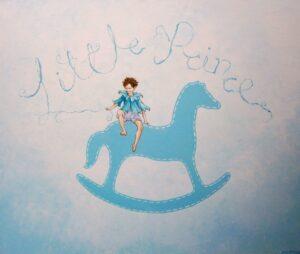 Παιδικός πίνακας Αγόρι και καρουσέλ DPP067