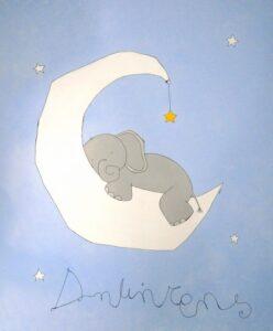 Παιδικός πίνακας ελεφαντάκι DPP087