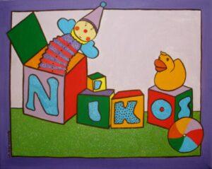 Παιδικός πίνακας Παιχνίδια 2 DPP016