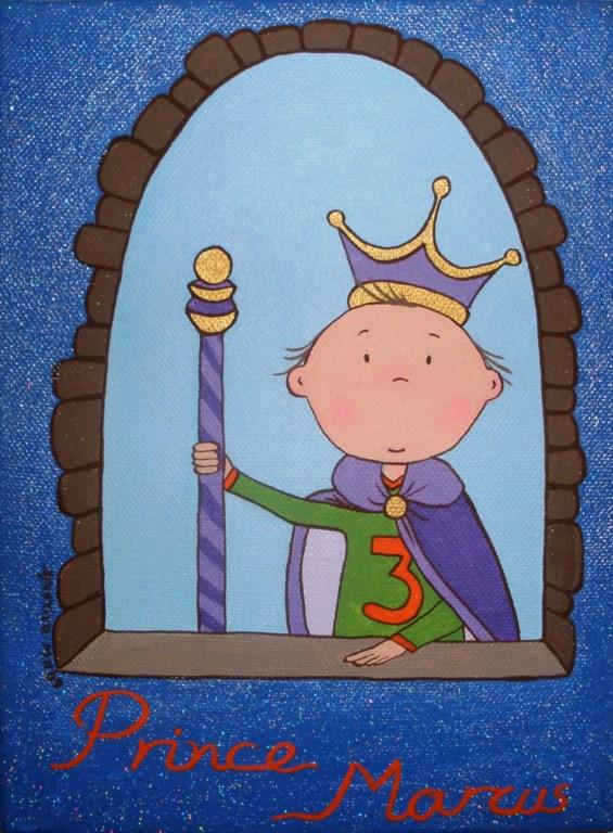 Παιδικός πίνακας Πρίγκιπας στο παράθυρο 2 DPP034