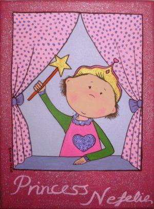 Παιδικός πίνακας Πριγκίπισσα στο παράθυρο DPP035