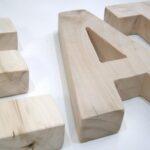 Ξύλινα, επιτραπέζια γράμματα  ZG044