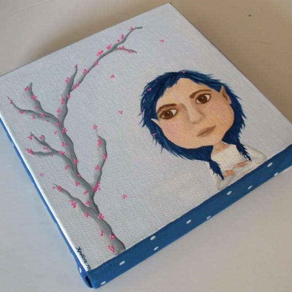 """Ζωγραφιστός στο χέρι παιδικός πίνακας """"Ξωτικό"""" DPP104"""