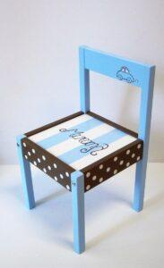 Παιδική καρεκλίτσα Αυτοκινητάκι καφέ - γαλάζιο DE0014