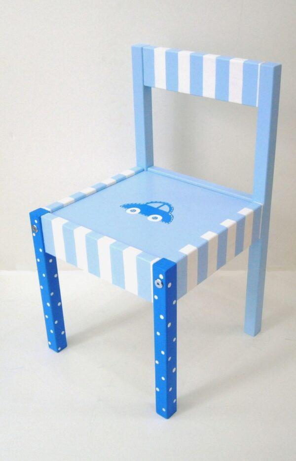 Παιδική καρεκλίτσα Αυτοκινητάκι γαλάζιο DE0018