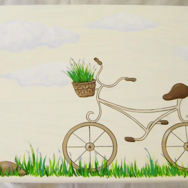 Παιδική καρεκλίτσα Ποδηλατάκι και Λεβάντες DE011