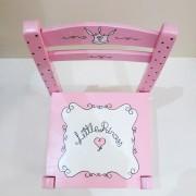 Παιδική καρεκλίτσα «καφενείου» ροζ μαύρο DE032