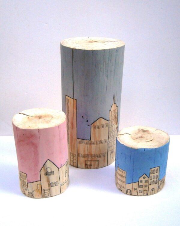 "City forest - Σκαμπώ/ κορμοί δέντρου ""Πόλη"" CF002"