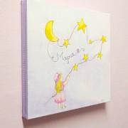 Παιδικός πίνακας «Κοριτσάκι και Αστέρια»   DPP116