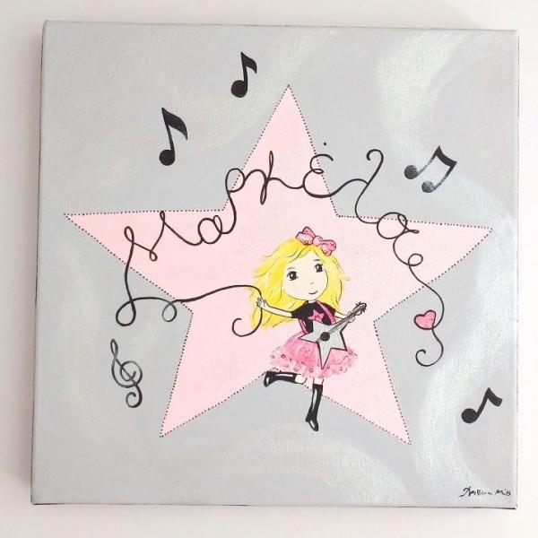 """Παιδικός πίνακας """"Ροκ Σταρ"""" DPP117"""