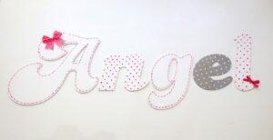 Ξύλινα, ζωγραφιστά γράμματα για τον τοίχο ZG035