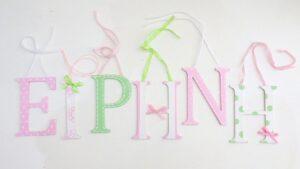 Ξύλινα, ζωγραφιστά γράμματα για τον τοίχο ZG037