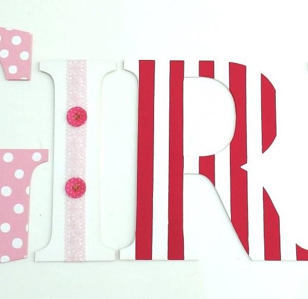 Ξύλινα, ζωγραφιστά γράμματα για τον τοίχο ZG038