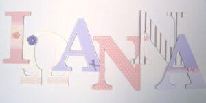 Ξύλινα, ζωγραφιστά γράμματα για τον τοίχο ZG039
