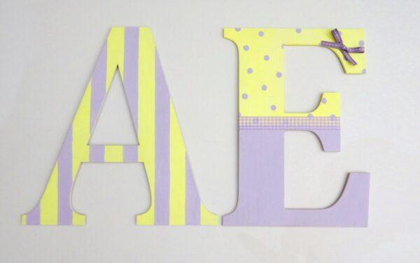 Ξύλινα, ζωγραφιστά γράμματα για τον τοίχο ZG047