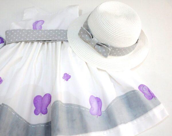 Βαφτιστικό φόρεμα Πεταλούδα Λιλά BD044